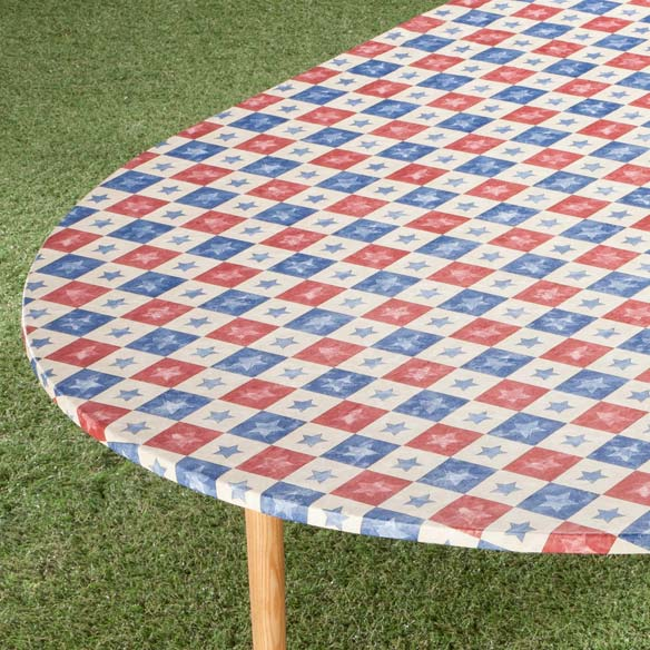 Americana Stars Elasticized Table Cover - View 3
