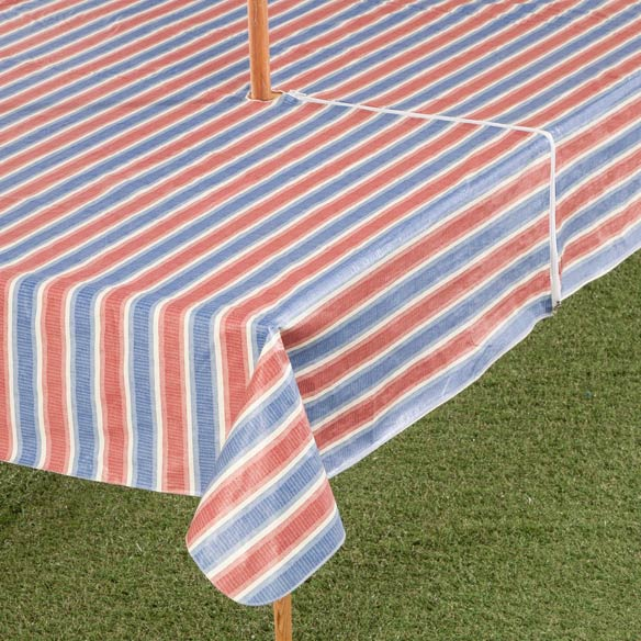 Patriotic Striped Zippered Table Cover - View 2