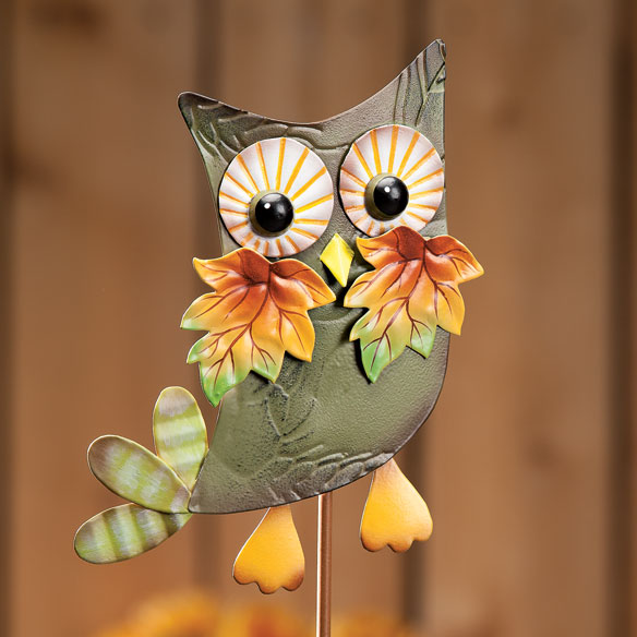 Metal Harvest Owl Decoration - View 3