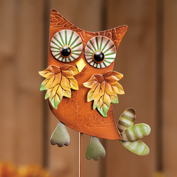 Metal Harvest Owl Decoration - View 5