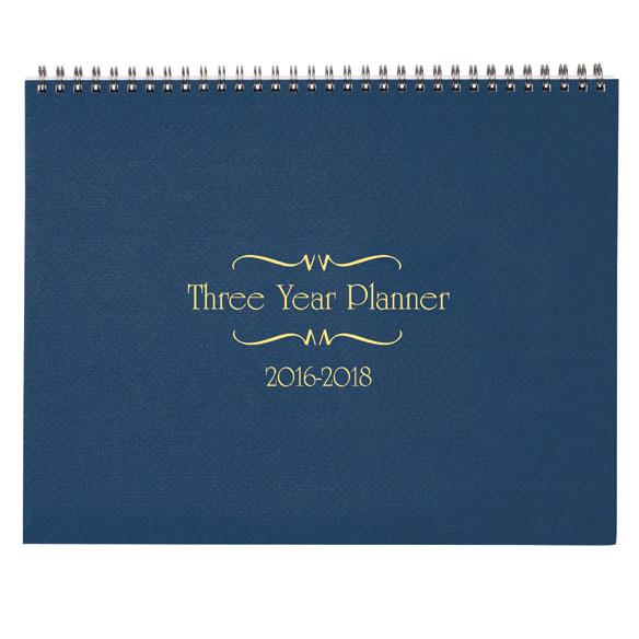 3 Year Calendar Diary 2016-2018 - View 2