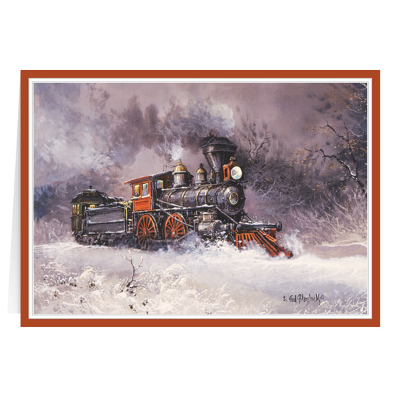 Blaylock Train Christmas Card Set of 20 - View 2