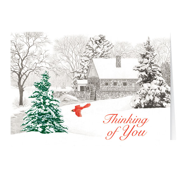 Winter Mill Christmas Card Set of 20 - View 2