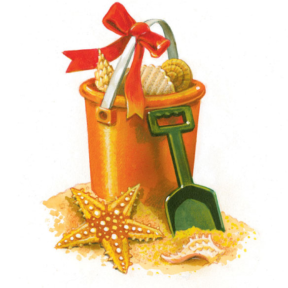 Coastal Happy Holidays Card Set of 20 - View 4