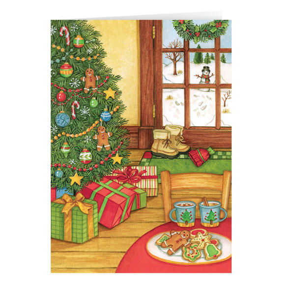 Sweet Greetings Christmas Card Set of 20 - View 2