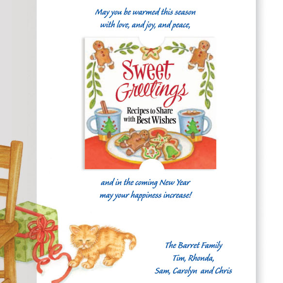 Sweet Greetings Christmas Card Set of 20 - View 4