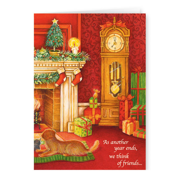 Calendar Gift Christmas Card Set of 20 - View 2