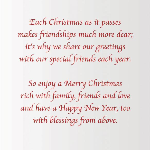 Calendar Gift Christmas Card Set of 20 - View 3