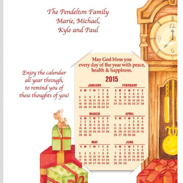 Calendar Gift Christmas Card Set of 20 - View 4
