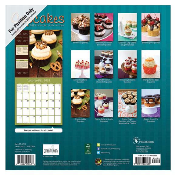 Cupcakes Wall Calendar - View 2