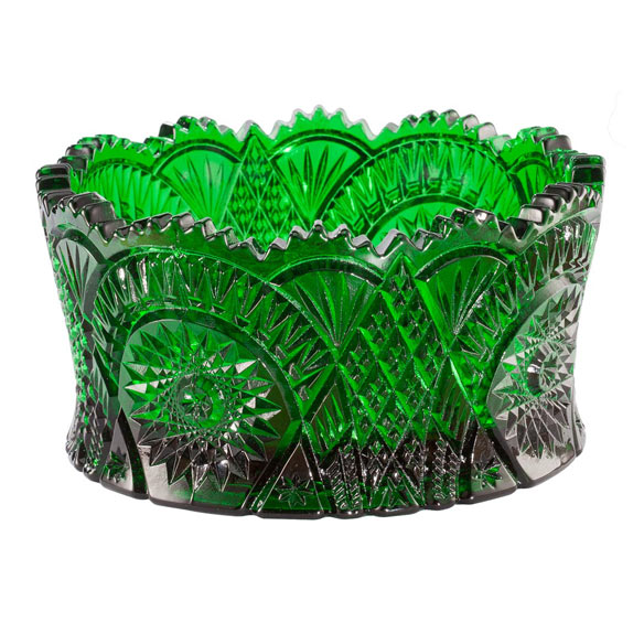 Emerald Green Glass Candy Dish - View 2