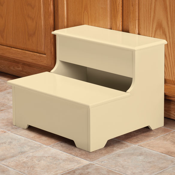 wooden storage step stool wooden step stool miles kimball. Black Bedroom Furniture Sets. Home Design Ideas