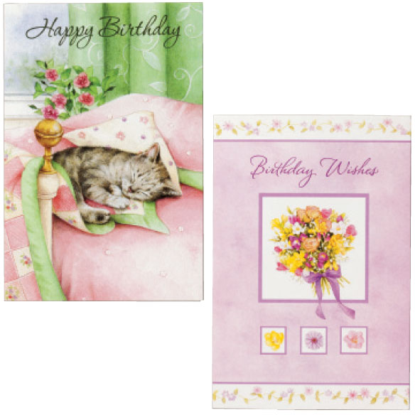 Birthday Cards Set of 24 - View 3