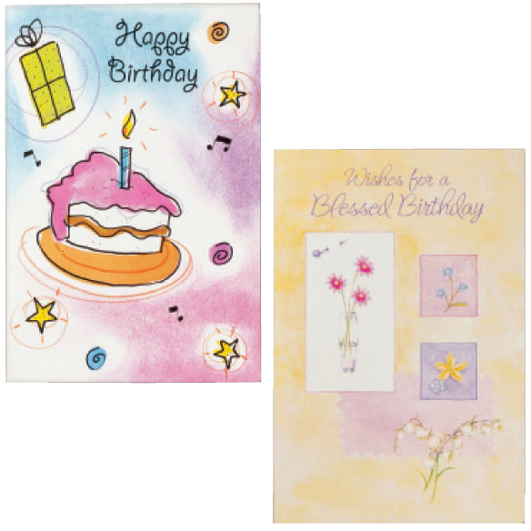 Birthday Cards Set of 24 - View 4