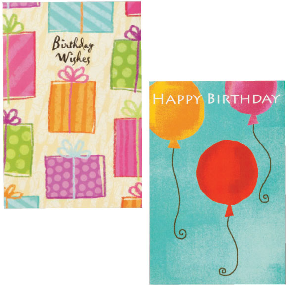 Birthday Cards Set of 24 - View 5