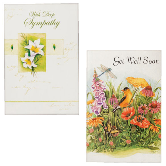 Sympathy & Encouragement Cards Set of 24 - View 5