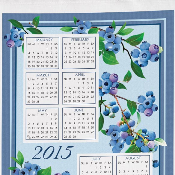Personalized Blueberry Calendar Towel - View 2