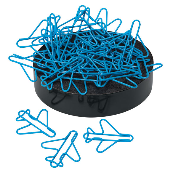 Airplane Paperclips on Magnetic Base - View 2