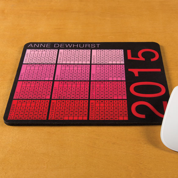 Personalized Essential Calendar Mousepad - View 3