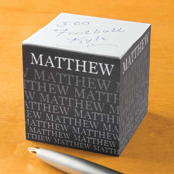Personalized Fading Name Self-Stick Note Cube - View 2