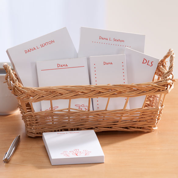 Personalized Notepad Flower Basket - View 2