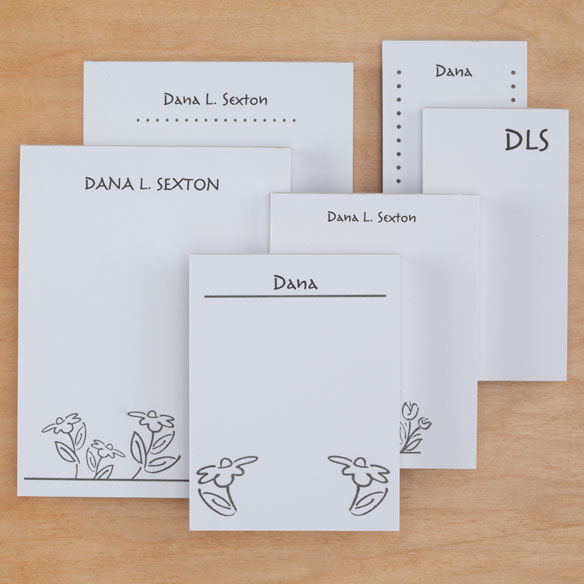 Personalized Flower Notepad Refill, Set of 6 - View 5