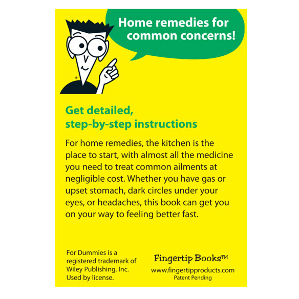 Home Remedies Refrigerator Magnet Book For Dummies® - View 2