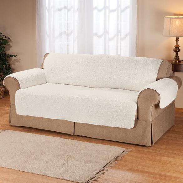Sherpa sofa protector by oakridge comforts couch cover - Protector de sofas de cuero ...