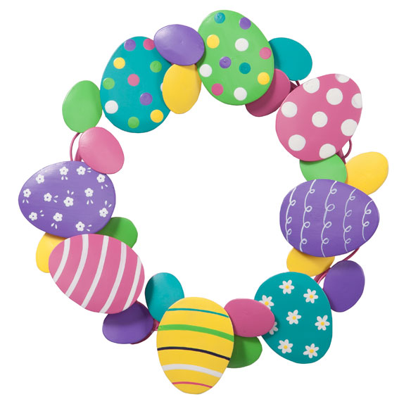 Two Silly Monkeys Easter Basket Wreath: Metal Easter Egg Wreath By Maple Lane Creations™