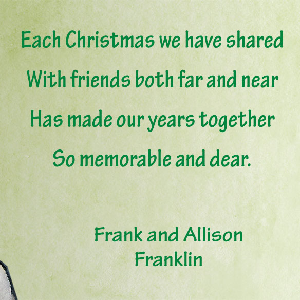 Our years together personalized christmas card miles kimball for Same day custom t shirts near me