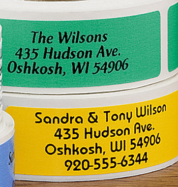 Classic Colors Address Labels