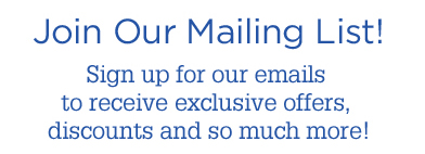 Sign up for our email specials!
