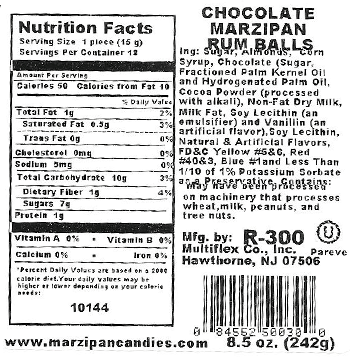 Rum Balls 8.5oz Nutrition Facts