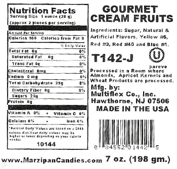 Cream Confections Fruit Nutrition Facts