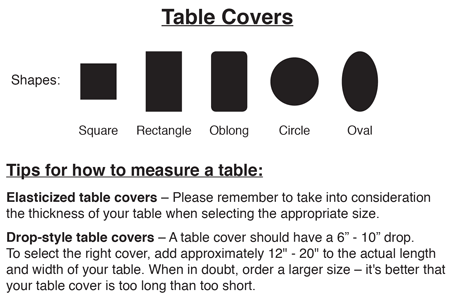 Tablecover Chart