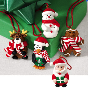 Christmas Assortment Tie Ons Set/12
