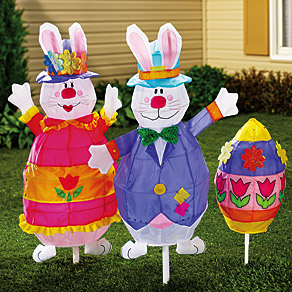 Mrs Bunny 3D Lawn Stake