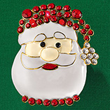 Flashing Santa Pin