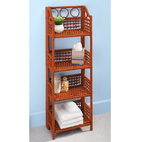 Folding Wicker Shelves