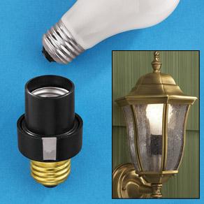 outdoor motion sensor light socket