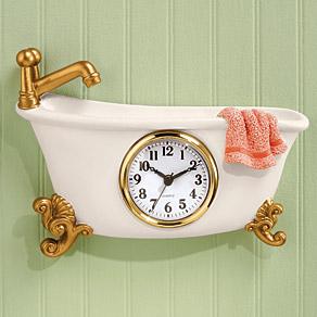 claw foot style bathtub clock pb claw foot style bathtub clock: small bathroom clock
