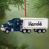 Personalized Semi Truck Ornament