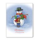 Snowman Pocket Calendar Christmas Card