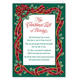 View All - My Christmas List Religious Christmas Card Set of 20