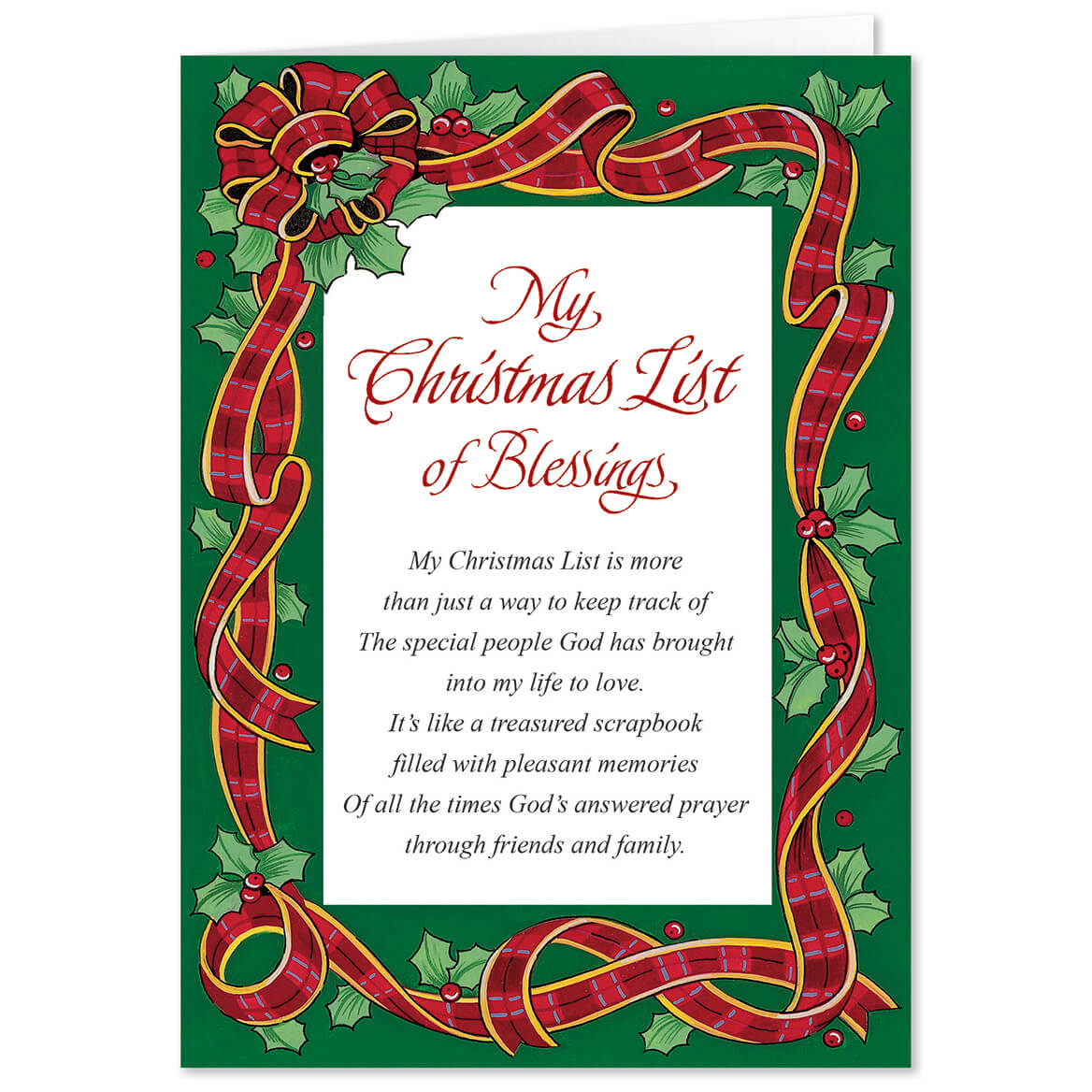 Personalized my christmas list christmas card set of 20 miles kimball personalized my christmas list christmas card set of 20 kristyandbryce Choice Image