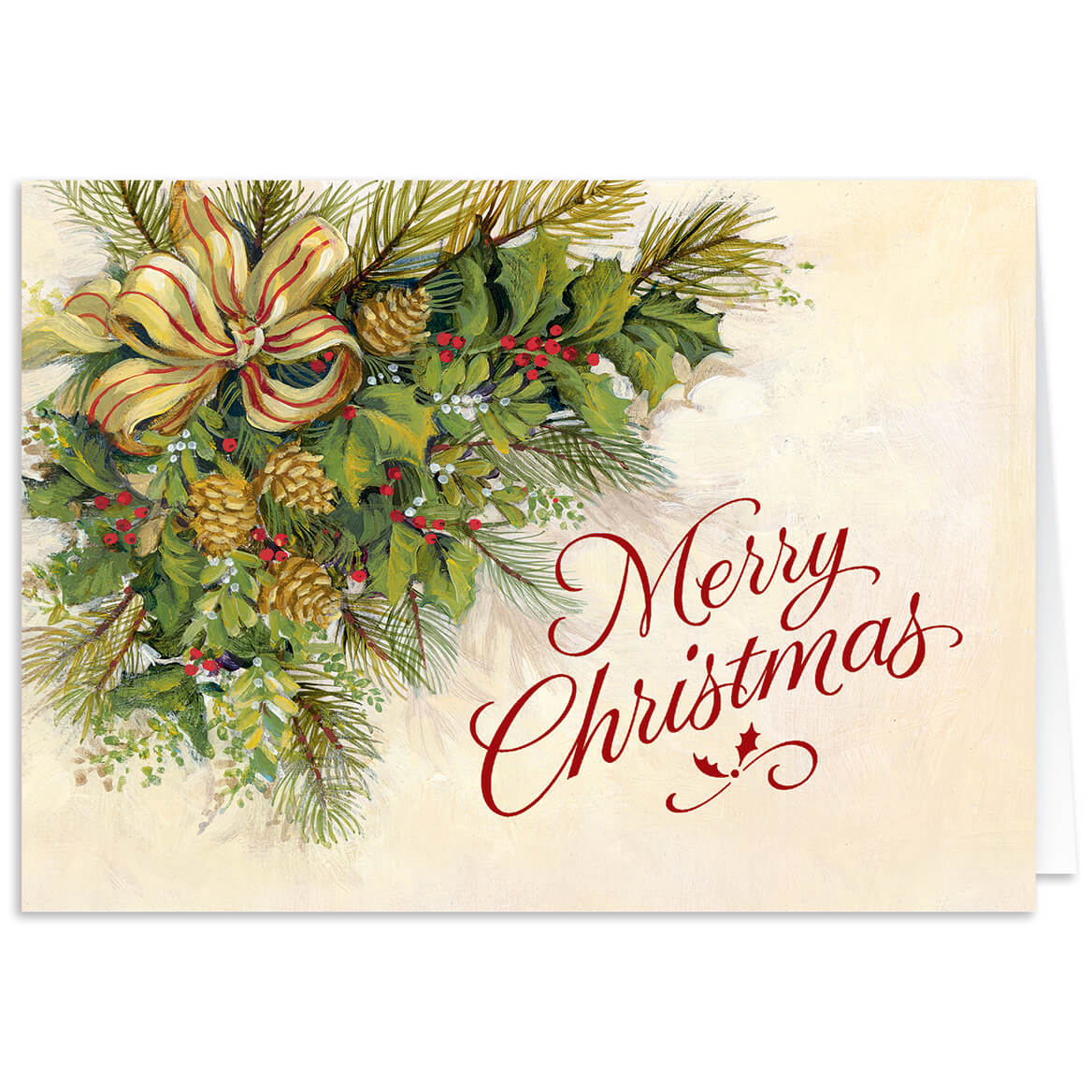 Christmas Greenery Images.Personalized Christmas Greenery Christmas Card Set Of 20
