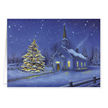 View All - Country Church Christmas Card Set/20