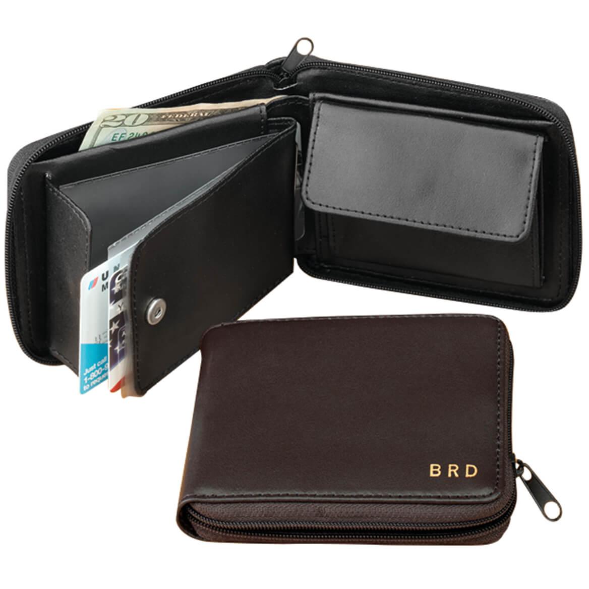 Leather Zipper Wallet-303263