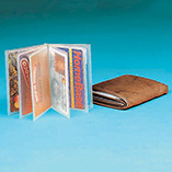 Handbags, Wallets & Travel - Plastic Wallet Insert - 6 Sleeve