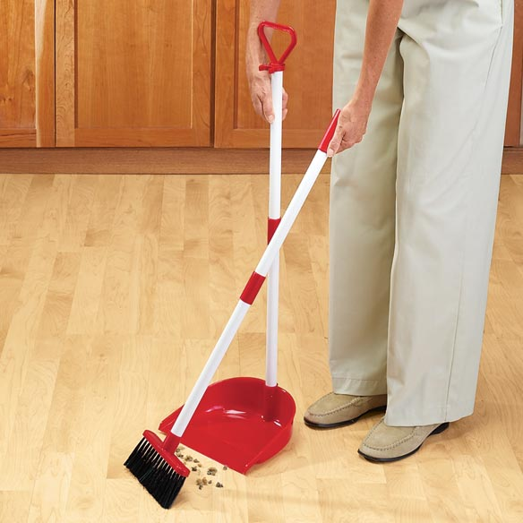 Long Handled Dust Pan with Broom